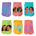 Disney's Elena of Avalor Toddler Girl 6 pkLow-Cut Socks