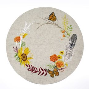 Celebrate Fall Together Butterfly Wreath Placemat