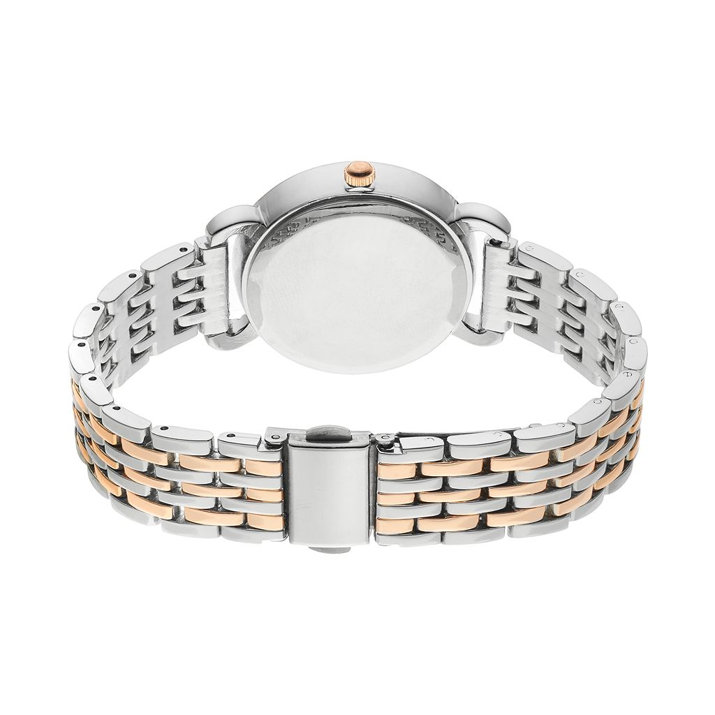 Folio Women's Crystal Two Tone Watch