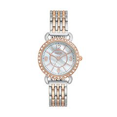 Folio Women's Crystal Two Tone Watch