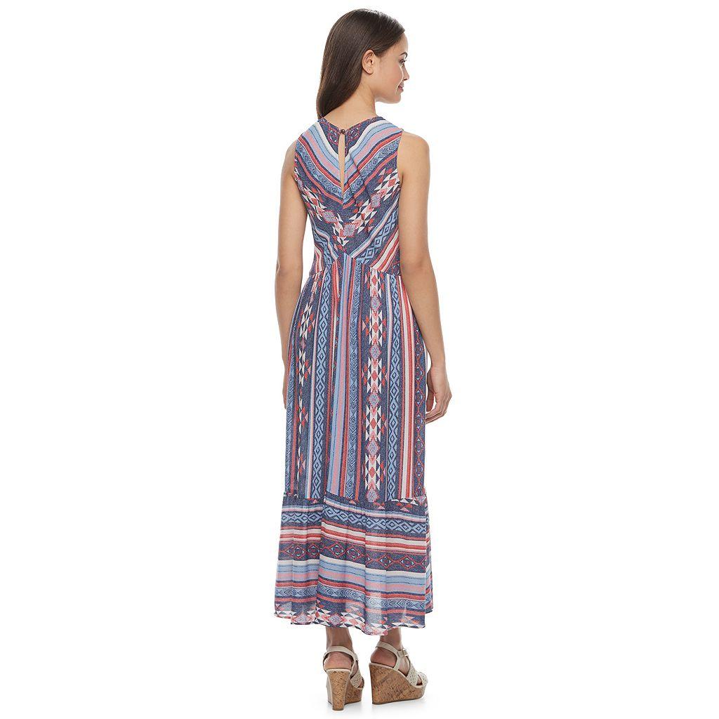 Juniors' Rewind Striped Midi Dress