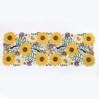 Celebrate Fall Together Sunflower Cut Out Table Runner
