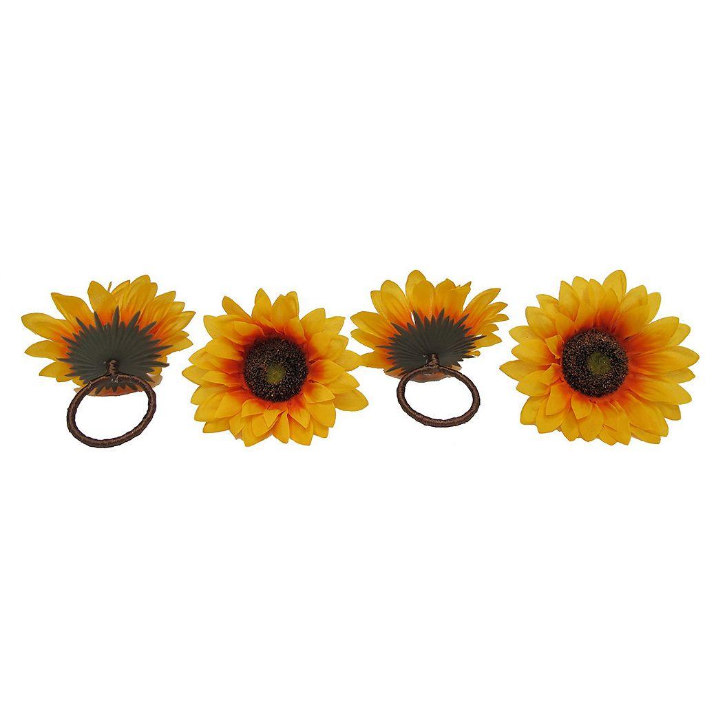 Celebrate Fall Together Sunflower Napkin Ring 4-pk.