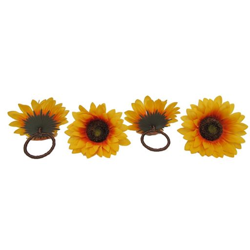 Celebrate Fall Together Sunflower Napkin Ring 4-pk.