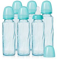 Evenflo Feeding 6-pk. 8-oz. Vented + Tinted Glass Bottles