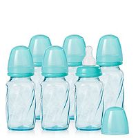 Evenflo Feeding 6 pk4-oz. Vented + Tinted Glass Bottles