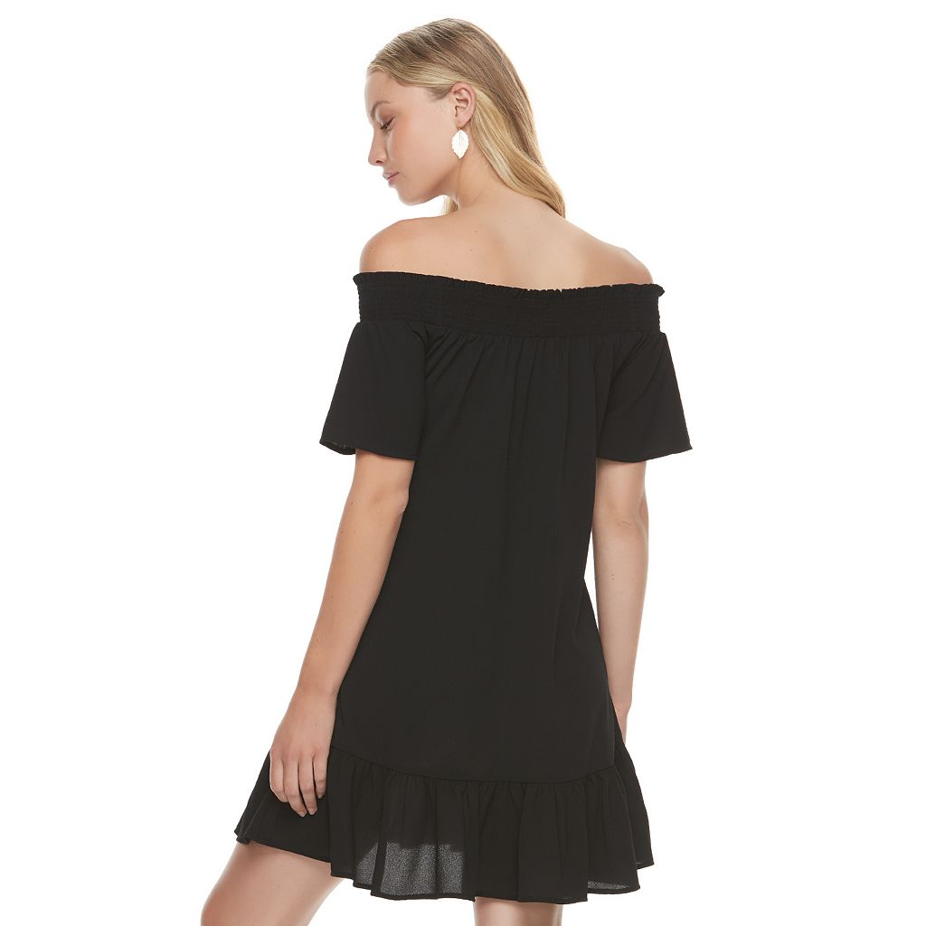 Juniors' Love, Fire Off Shoulder Peasant Dress