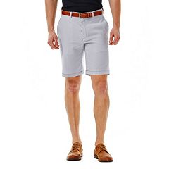Men's Haggar® Cool 18® Flat-Front Plaid Shorts