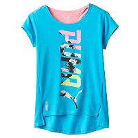 Girls 7-16 PUMA Logo Hi-Low Tee