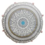 Simple By Design Medallion Round Throw Pillow