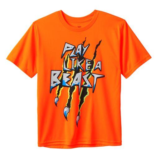"""Boys 8-20 Tek Gear """"Play Like A Beast"""" Tee"""
