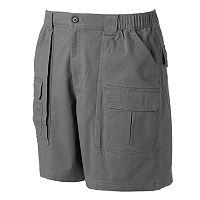 Men's Croft & Barrow® Classic-Fit Twill Elastic Cargo Stretch Shorts
