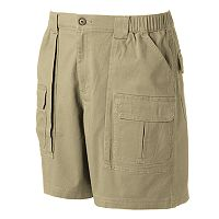 Men's Croft & Barrow® Classic-Fit Twill Elastic Cargo Stretch Shorts
