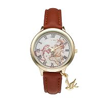 Vivani Women's World Map Bird Charm Watch