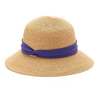 Dana Buchman Knotted Band Straw Cloche Hat