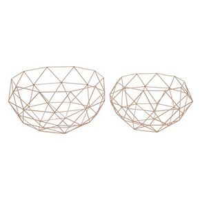 Geometric Basket Floor Decor 2-piece Set