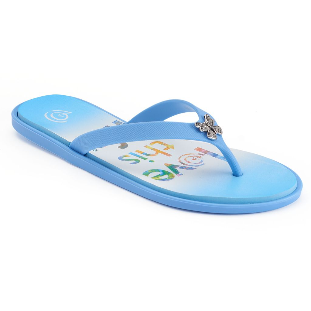 love this life Butterfly Flip Flops