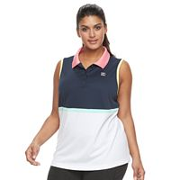 Plus Size FILA SPORT® Colorblock Golf Polo