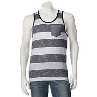 Men's Distortion Striped Tank Top