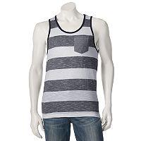 Men's Distortion Striped Tank Top