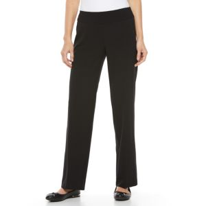 Women's Croft & Barrow® Polished Pull-On Straight-Leg Pants