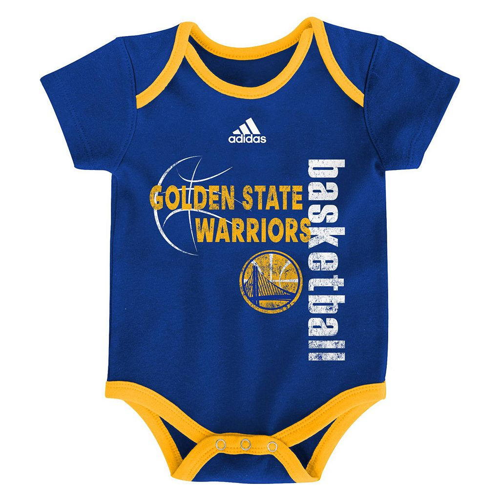 Baby adidas Golden State Warriors 3-Pack Bodysuit Set