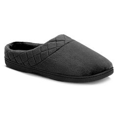 da373892851e Dearfoams Women s Quilted Velour Clog Slippers