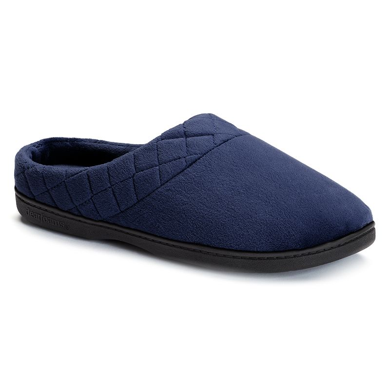 Women's Dearfoams Quilted Velour Clog Slippers. Size: Small. Blue