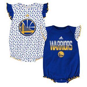Baby adidas Golden State Warriors Polka-Dot Bodysuit Set