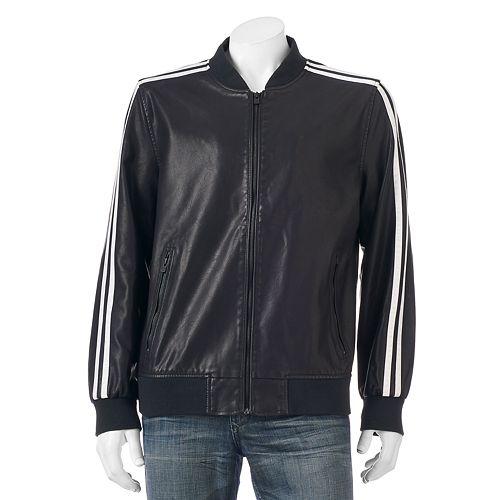 Men's XRAY Slim-Fit Faux-Leather Jacket