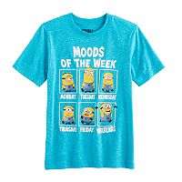 Boys 8-20 Minions Moods of The Week Tee