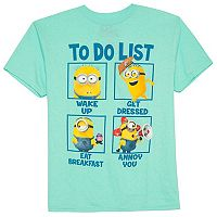 Boys 8-20 Minion To-Do List Tee