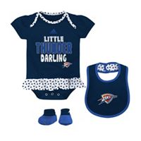 Baby adidas Oklahoma City Thunder 3-Piece Little Darling Bodysuit Set