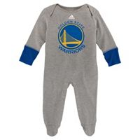 Baby adidas Golden State Warriors Footed Bodysuit