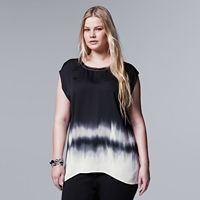 Plus Size Simply Vera Vera Wang Ombre High-Low Top