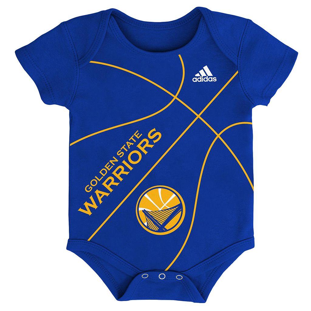 Baby adidas Golden State Warriors Fanatic Basketball Creeper