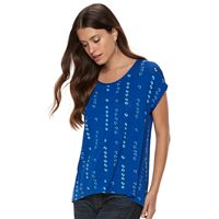 Petite Apt. 9® Lattice-Back Scoopneck Tee