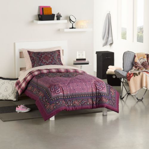 Simple By Design 5-piece Prairie Grunge Twin XL Comforter Dorm Kit