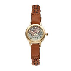 Vivani Women's World Map Braided Watch
