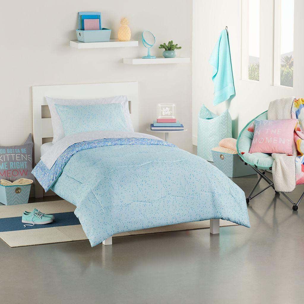 Simple By Design 5-piece Joyful Prep Twin XL Comforter Dorm Kit