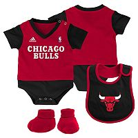 Baby adidas Chicago Bulls 3-Piece Jersey Bodysuit Set