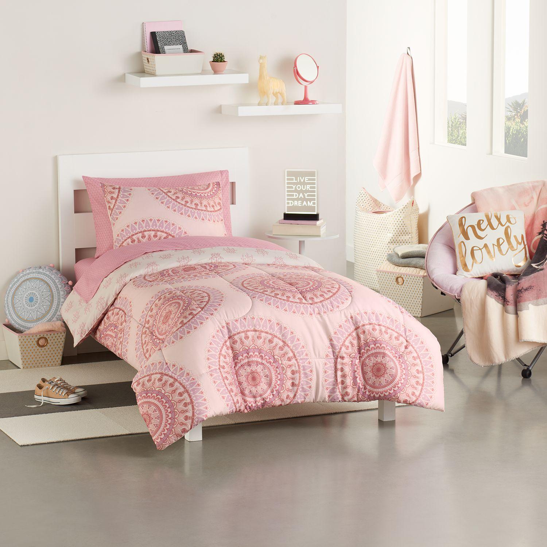 simple by design 5piece sundaze medallion twin xl comforter dorm kit - Twin Xl Comforters