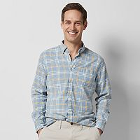 Men's SONOMA Goods for Life™ Flexwear Modern-Fit Stretch Slubbed Button-Down Shirt