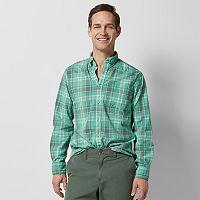 Men's SONOMA Goods for Life™ Flexwear Modern-Fit Stretch Slubbed Button-Down Shirt