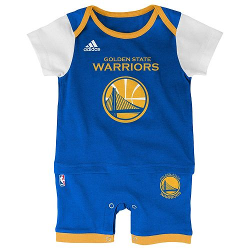 timeless design bca39 74ef5 Baby adidas Golden State Warriors Fan Jersey Bodysuit