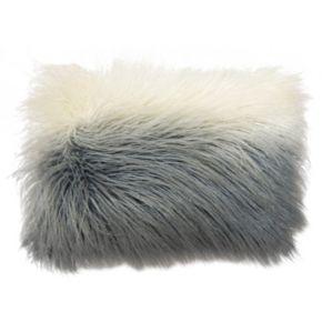 Simple by Design Mongolian Ombre Faux Fur Oblong Throw Pillow