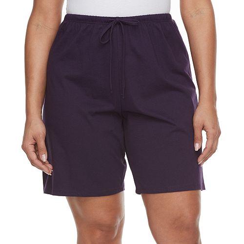 Plus Size Jockey Pajamas: Purple Bermuda Pajama Shorts