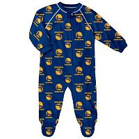 Baby adidas Golden State Warriors Logo Footed Pajamas