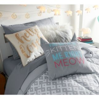 Simple By Design ''You Gotta Be Kitten Me'' Throw Pillow