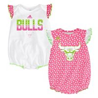 Baby adidas Chicago Bulls Polka-Dot Bodysuit Set